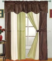Green And Brown Curtains Brown And Green Curtains Gopelling Net