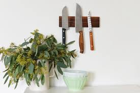 magnetic for kitchen knives diy magnetic knife holder