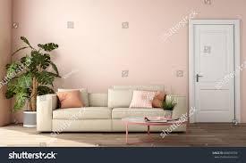 interior design living area sofa table stock illustration