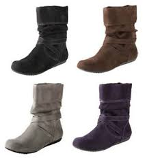 womens boots in size 13 lower east side black brown gray purple sueded boots s