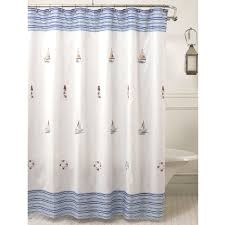 Shower Curtain Striped Blue Striped Shower Curtain Affordable Modern Home Decor