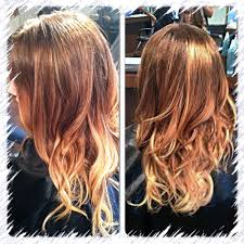 sombre summer color long hair beach waves blonde and caramel