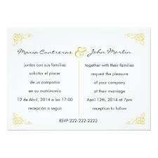bilingual wedding invitations bilingual wedding invitation zazzle