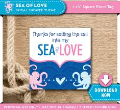 bridal shower favor tags nautical themed bridal shower favor tags the party stork