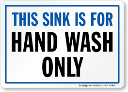 printable poster for hand washing sink is for hand wash only sign sku s 4943 mysafetysign com