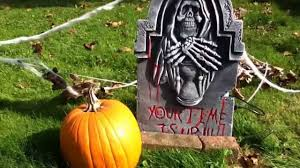 halloween yard haunt fog chiller graveyard effects youtube