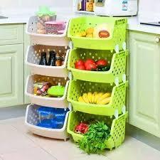 vegetable storage kitchen cabinets 4 tier kitchen fruit vegetable storage basket rack with handle