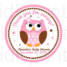 printable owl baby shower favor tags by kideprints on etsy