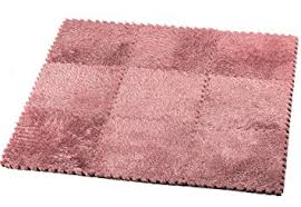 Fuzzy Area Rug Amazon Com Hemingweigh Fuzzy Area Rug 9 Fluffy Carpet Tiles For
