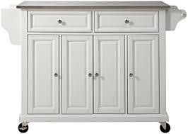 amazon com crosley furniture rolling kitchen island with