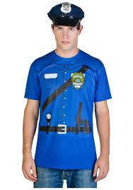 Tee Shirt Halloween Costumes Mens Cop Costume T Shirt Halloween Costumes