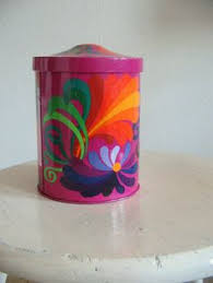 funky kitchen canisters vintage 70s flower power canister set of 4 by friendsofed on etsy