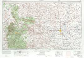 Ruidoso New Mexico Map by Roswell Topographic Maps Nm Usgs Topo Quad 33104a1 At 1 250 000