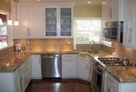 concrete countertops corner kitchen sink cabinet lighting flooring
