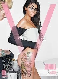 kendall jenner gets inked for new cover of v magazine