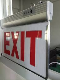 red and white led emergency lights arcylic led emergency exit sign with red exit pattern aluminum side