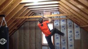 attic area ninja warrior attic training area youtube