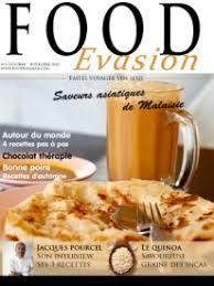 magazines de cuisine du chef jacques pourcel pour le magazine food evasion