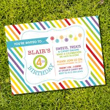free rainbow birthday invitations beauteous rainbow party invitations free features party dress