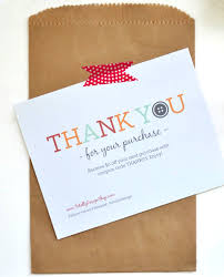 customized thank you cards thanks for your order business cards