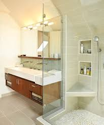 Floating Bathroom Sink by Classy Floating Sink Cabinet Set In A Contemporary Bathroom Clad
