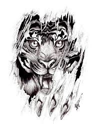 tiger design on clipart library aztec designs fox