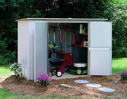 amazon com arrow shed gs83 garden steel storage shed 8 feet by 3