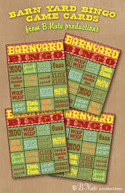 The Bingo Barn Free Printable Barnyard Bingo Game Cards From B Nute Productions