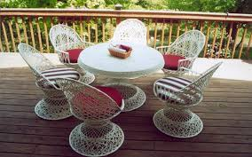 White Wicker Outdoor Patio Furniture Wicker Patio Furniture Year Use Never Needs Painting