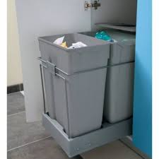 poubelle de cuisine sous evier poubelle tiroir tri selectif 2 bacs 70l accessoires de cuisines