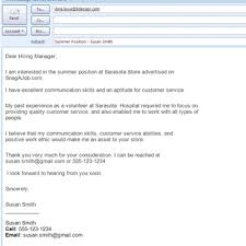 4 job apply email sample addressing letter