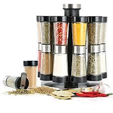 Contemporary Spice Racks Amazon Com Blümwares Revolving Countertop Carousel Herb And Spice