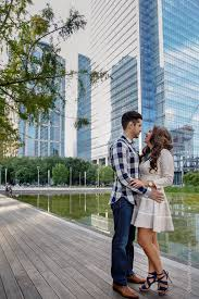 engagement photographers melanie chris engaged downtown houston houston engagement