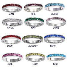 stacked birthstone rings stackable birthstone rings ebay