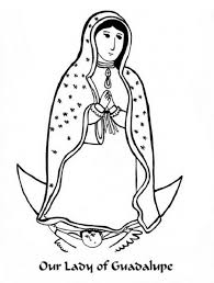 stylish and also interesting our lady of guadalupe coloring page