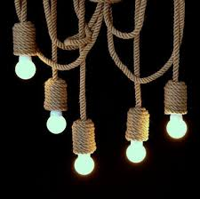 items similar to very long jute rope chandelier 200cm 80