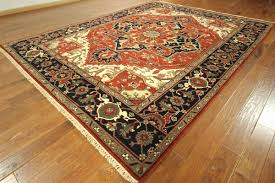 Traditional Persian Rug by New Traditional Oriental Hand Knotted Heriz Serapi 9x12 Rust Navy