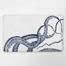 Nautical Bathroom Decor by Octopus Bathroom Bath Mat Bath Rug Nautical Bath Rug