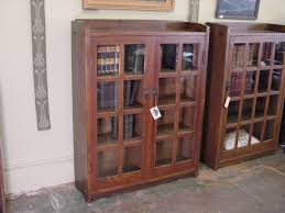 White Bookshelf With Glass Doors Oak Bookcase Glass Doors Fleshroxon Decoration