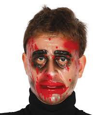 the purge mask halloween store transparent plastic halloween horror purge style blood scars fancy