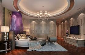 bedroom luxurious bedroom design with round shape floating beds