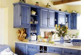 kitchen charming blue painted kitchen cabinets baby island