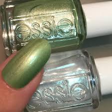 essie oil slick paint jade in manhattan esmaltes pinterest
