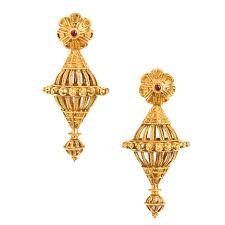 allukah a large pair of gold ear ornaments india gujarat 20th