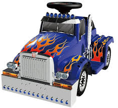 toddler motorized car optimus prime 6v battery powered ride on truck the transformers