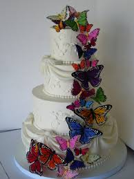butterfly wedding cake after it went from a vision in wh u2026 flickr
