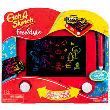 etch a sketch freestyle drawing pad with stylus and stampers