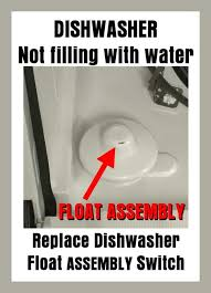 Frigidaire Dishwasher Not Pumping Water Dishwasher Will Not Fill With Water During Wash Cycle What Parts