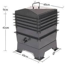 composteur de cuisine 80l cuisine déchets compost de vers de terre boîte diy composteur