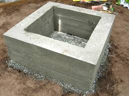 Concrete Firepits How To Make A Concrete Feature How Tos Diy
